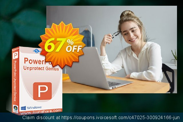iSunshare PowerPoint Unprotect Genius discount 67% OFF, 2019 Black Friday offering sales