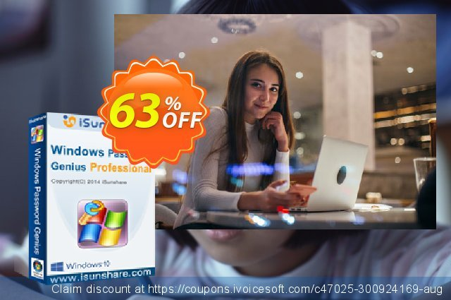 iSunshare Windows Password Genius for Mac Professional discount 63% OFF, 2019 Student deals offering sales