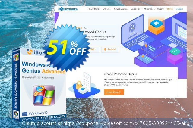 iSunshare Windows Password Genius for Mac Advanced  경이로운   세일  스크린 샷