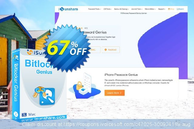 iSunshare BitLocker Genius discount 67% OFF, 2019 Thanksgiving Day offering sales