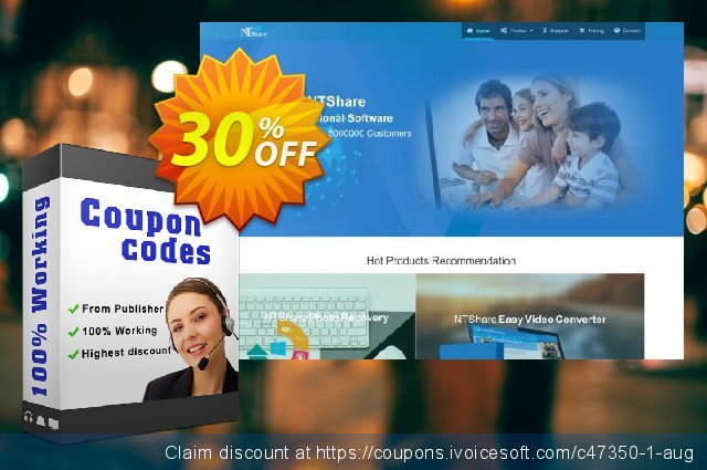 NTShare Photo Recovery discount 30% OFF, 2020 Halloween offering sales