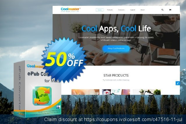 Coolmuster ePub Converter for Mac discount 50% OFF, 2019 Happy New Year offering sales