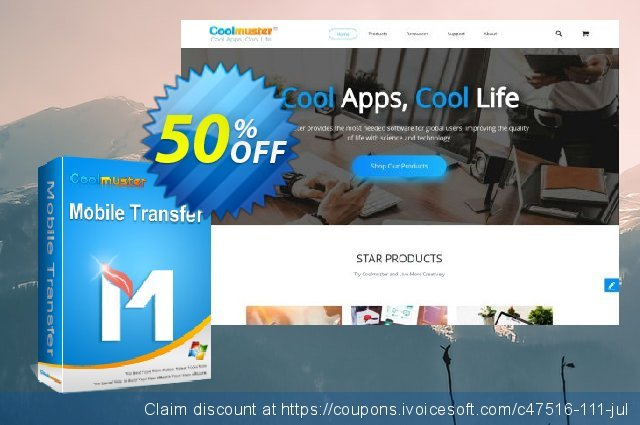 Coolmuster Mobile Transfer - Lifetime License(6-10PCs) discount 50% OFF, 2019 Father's Day discount