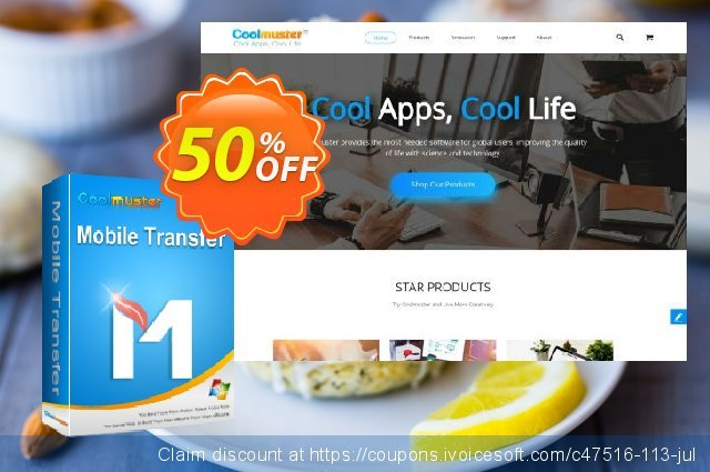 Coolmuster Mobile Transfer - Lifetime License(16-20PCs) discount 50% OFF, 2019 Father's Day offering sales