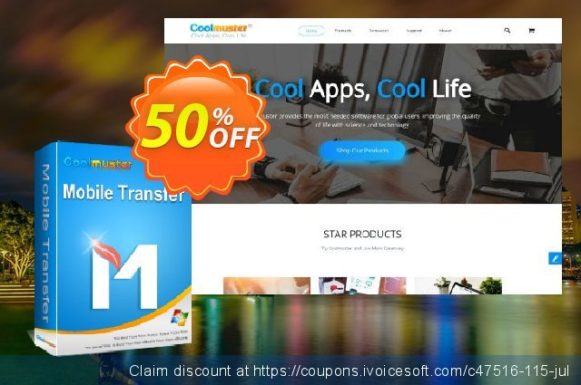 Coolmuster Mobile Transfer - Lifetime License(26-30PCs) discount 50% OFF, 2019 New Year's Day deals