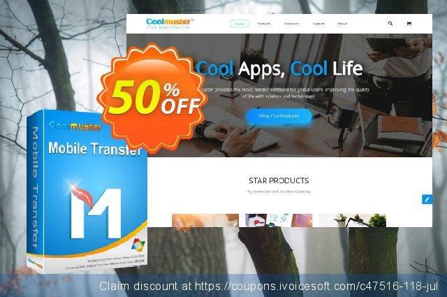 Coolmuster Mobile Transfer - 1 Year License(6-10PCs) discount 50% OFF, 2019 Happy New Year offering discount