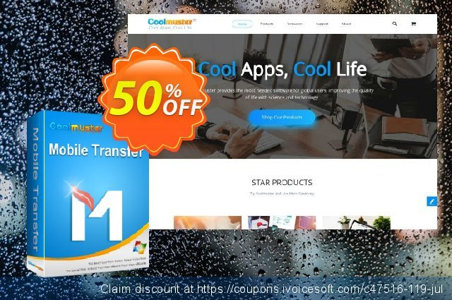 Coolmuster Mobile Transfer - 1 Year License(11-15PCs) 棒极了 折扣 软件截图
