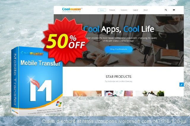 Coolmuster Mobile Transfer - 1 Year License(16-20PCs) discount 50% OFF, 2019 Spring offering deals