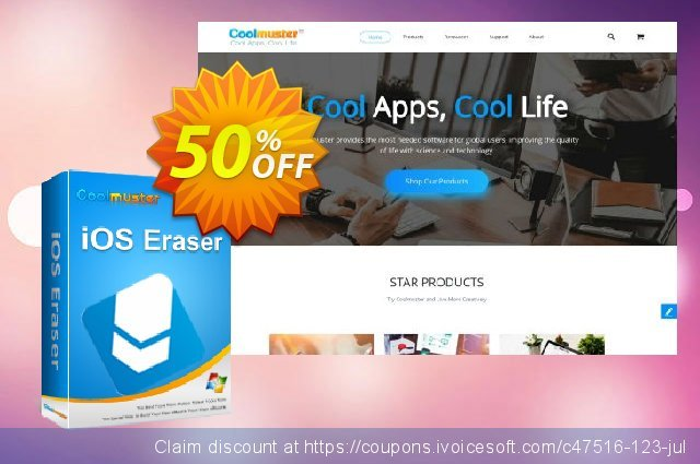 Coolmuster iOS Eraser (Lifetime) discount 50% OFF, 2019 Daylight Saving offering sales