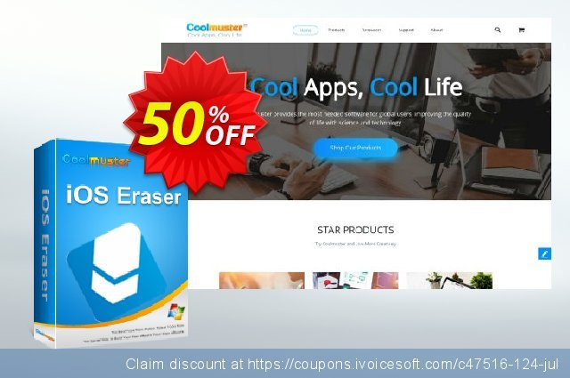 Coolmuster iOS Eraser - Lifetime (2-5PCs) discount 50% OFF, 2019 Summer offering sales