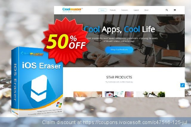 Coolmuster iOS Eraser - Lifetime (6-10PCs) discount 50% OFF, 2019 Happy New Year offering sales