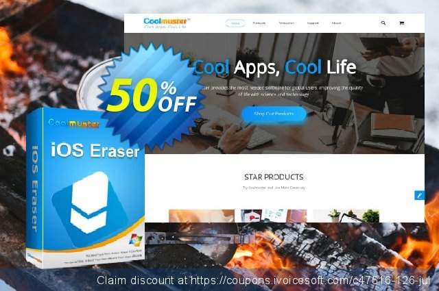 Coolmuster iOS Eraser - Lifetime (11-15PCs) discount 50% OFF, 2019 Earth Hour offering sales