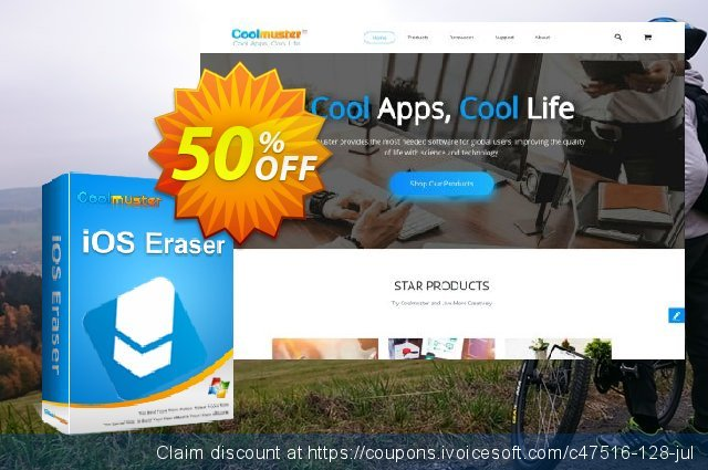 Coolmuster iOS Eraser - Lifetime (21-25PCs) discount 50% OFF, 2020 Back-to-School promotions discount