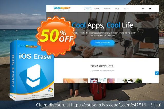 Coolmuster iOS Eraser (2-5PCs) discount 50% OFF, 2019 Daylight Saving deals