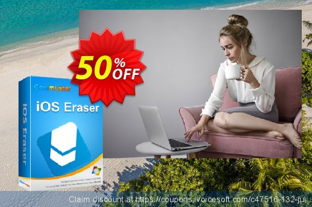 Coolmuster iOS Eraser (6-10PCs) discount 50% OFF, 2019 Women Day offer