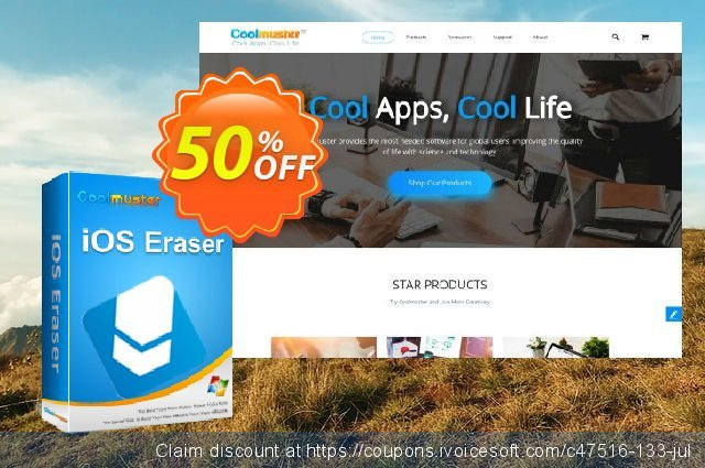 Coolmuster iOS Eraser (11-15PCs) discount 50% OFF, 2019 Father's Day offering deals