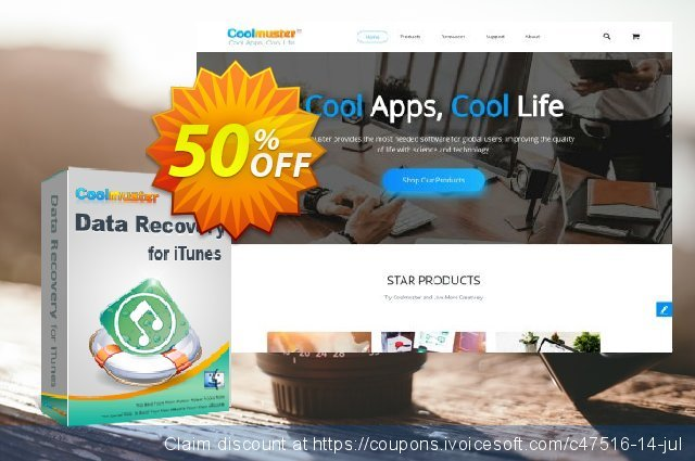 Coolmuster Data Recovery for iTunes (Mac Version) discount 50% OFF, 2019 New Year's Weekend offering sales