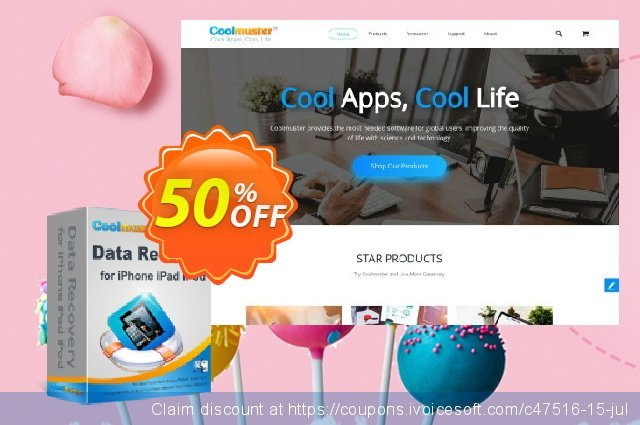 Coolmuster Data Recovery for iPhone iPad iPod (Mac Version) discount 50% OFF, 2020 American Independence Day offering sales