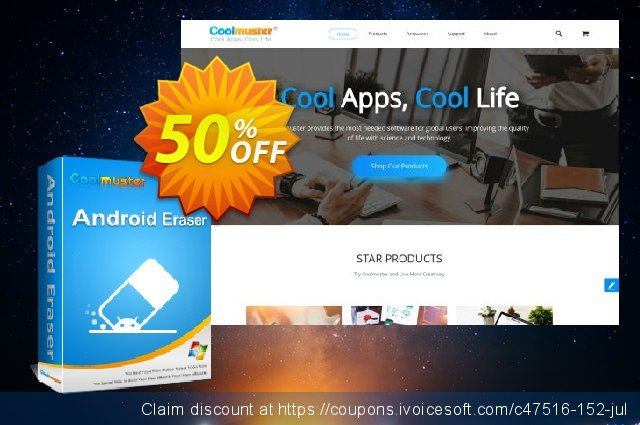 Coolmuster Android Eraser - 1 Year License(2-5PCs) discount 50% OFF, 2019 Summer offering deals