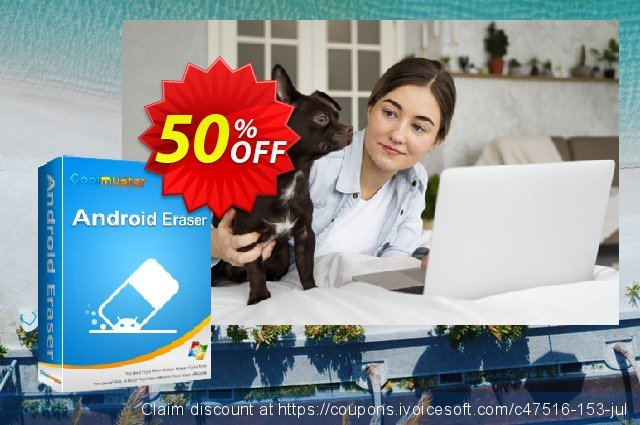Coolmuster Android Eraser - 1 Year License(6-10PCs) discount 50% OFF, 2019 Father's Day promo sales