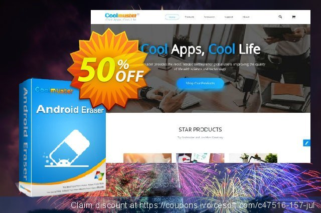 Coolmuster Android Eraser - 1 Year License(26-30PCs) discount 50% OFF, 2019 Father's Day offering sales