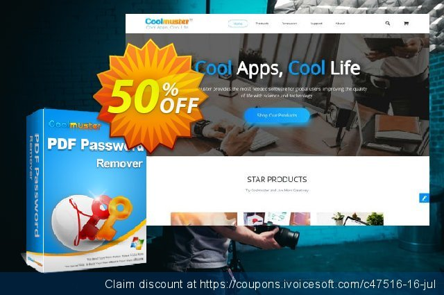 Coolmuster PDF Password Remover discount 50% OFF, 2019 Summer offering sales