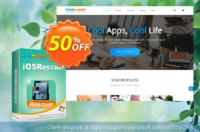 Get 50% OFF Coolmuster iOSRescuer offering sales