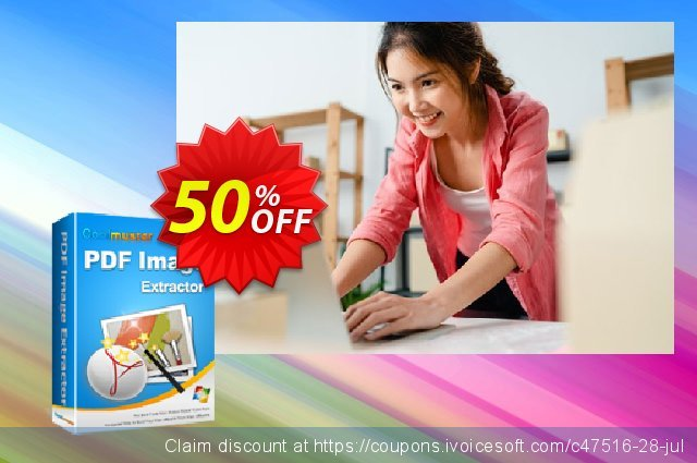 Coolmuster PDF Image Extractor discount 50% OFF, 2020 Back to School season sales