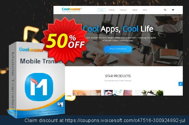 Coolmuster Mobile Transfer for Mac - 1 Year (26-30PCs) 超级的 交易 软件截图
