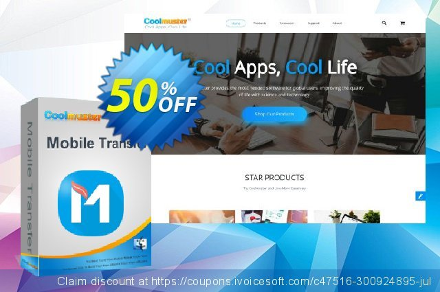 Get 50% OFF Coolmuster Mobile Transfer for Mac - 1 Year (6-10PCs) promotions