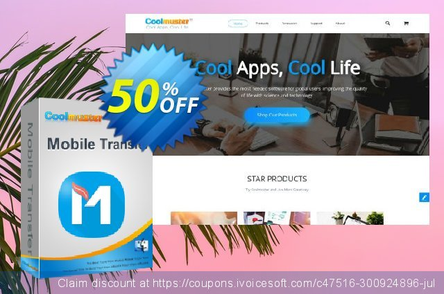Coolmuster Mobile Transfer for Mac - 1 Year (16-20PCs) discount 50% OFF, 2021 Mother Day offering sales. affiliate discount
