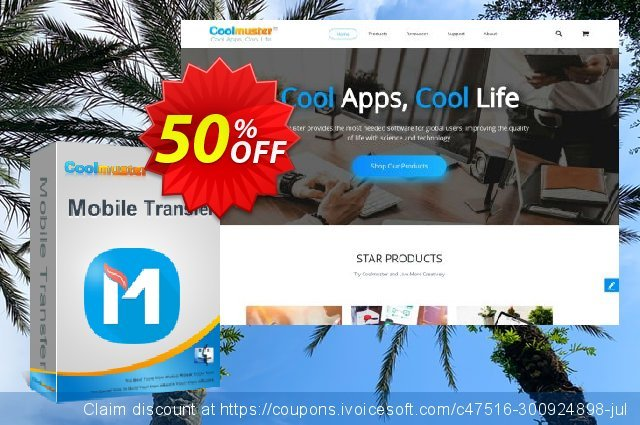Coolmuster Mobile Transfer for Mac - Lifetime (11-15PCs) discount 50% OFF, 2021 Resurrection Sunday offering sales