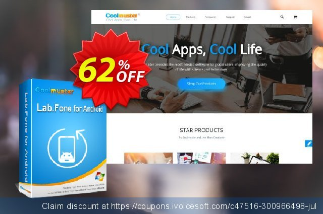 Coolmuster Lab.Fone for Android - 1 Year (10 Devices, 1 PC) discount 62% OFF, 2020 Back to School promo offering sales