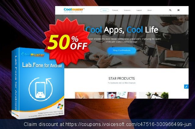 Coolmuster Lab.Fone for Android - 1 Year (15 Devices, 1 PC) discount 50% OFF, 2021 Labour Day promo sales. 50% OFF Coolmuster Lab.Fone for Android - 1 Year (15 Devices, 1 PC), verified