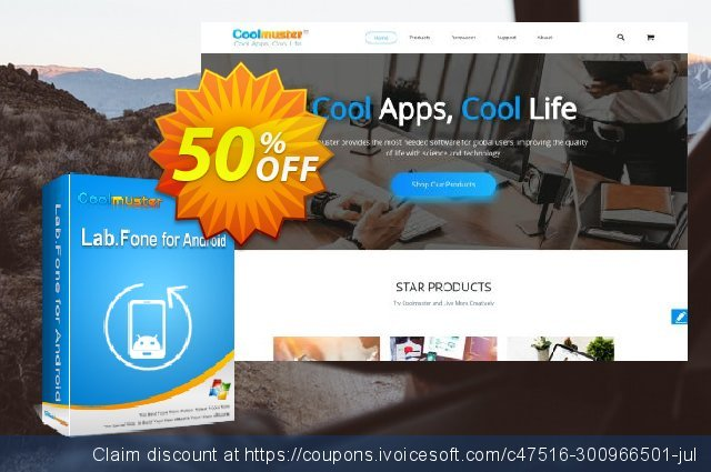 Coolmuster Lab.Fone for Android - 1 Year (25 Devices, 5 PC) discount 50% OFF, 2020 Back to School deals offering sales