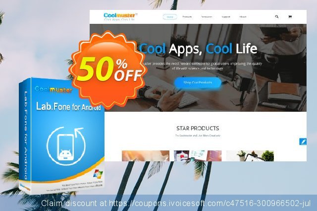 Coolmuster Lab.Fone for Android - 1 Year (50 Devices, 10 PC) discount 50% OFF, 2020 Back to School shopping offering sales