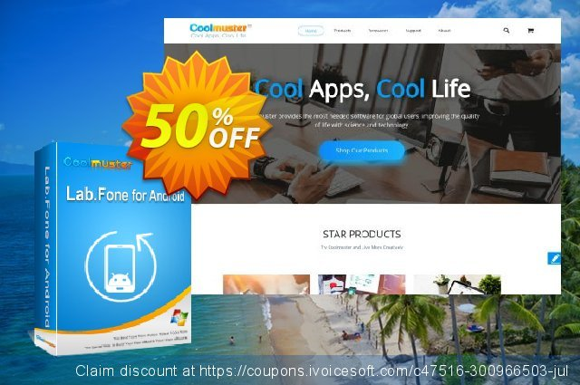 Coolmuster Lab.Fone for Android - 1 Year (75 Devices, 15 PC) discount 50% OFF, 2020 Back to School offer offering sales
