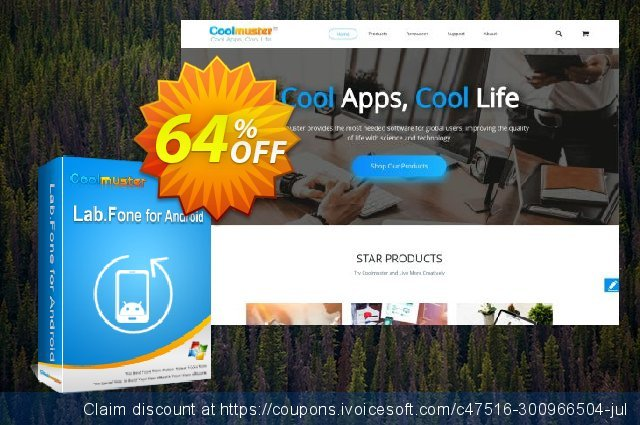 Coolmuster Lab.Fone for Android Lifetime (5 Devices, 1 PC) discount 64% OFF, 2020 Back to School coupons offering sales