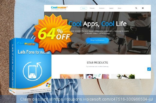 Coolmuster Lab.Fone for Android Lifetime (5 Devices, 1 PC) discount 64% OFF, 2021 Working Day offering sales. 64% OFF Coolmuster Lab.Fone for Android Lifetime (5 Devices, 1 PC), verified