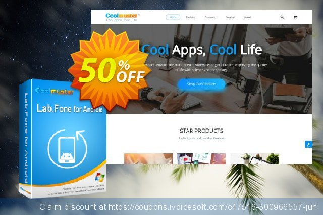 Get 50% OFF Coolmuster Lab.Fone for Android Lifetime (75 Devices, 15 PC) promo sales