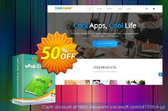 Coolmuster ePub Converter discount 50% OFF, 2019 Summer offering sales