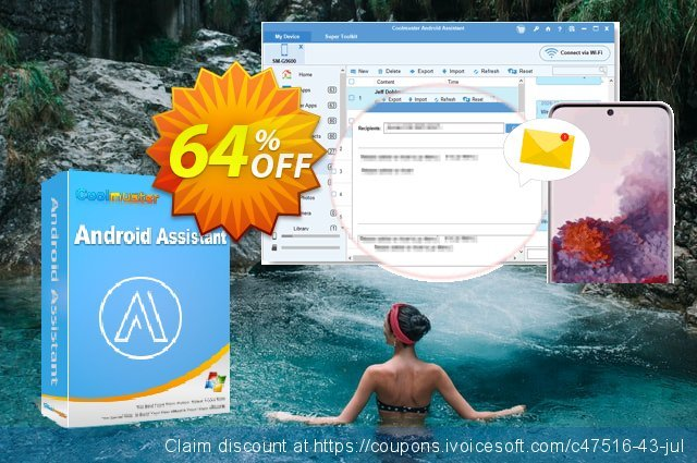 Coolmuster Android Assistant - 1 Year License discount 64% OFF, 2019 Summer offering sales