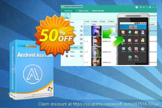 Coolmuster Android Assistant - Lifetime License(2-5PCs) discount 50% OFF, 2019 Spring offering sales