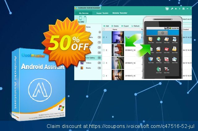 Coolmuster Android Assistant - Lifetime License(11-15PCs) discount 50% OFF, 2019 Women Day sales