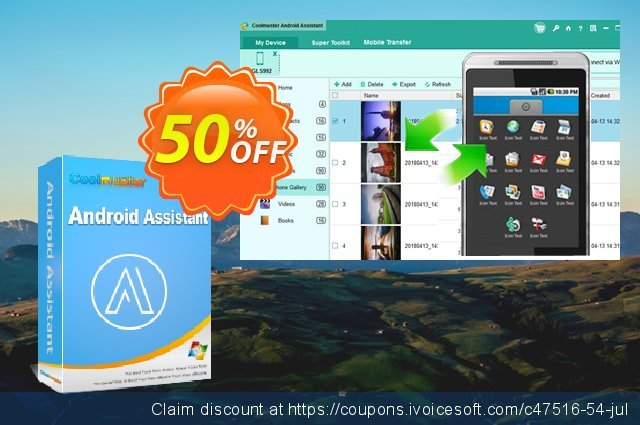 Coolmuster Android Assistant - Lifetime License (25 PCs) discount 50% OFF, 2020 University Student offer promo sales