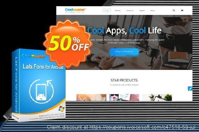 Coolmuster Lab.Fone for Android - 1 Year (Unlimited Devices, 1 PC) discount 50% OFF, 2020 July 4th offering sales