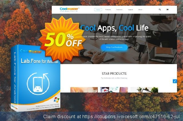 Coolmuster Lab.Fone for Android Lifetime (Unlimited Devices, 1 PC) discount 50% OFF, 2021 Camera Day offering sales. affiliate discount