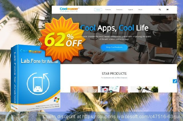 Coolmuster Lab.Fone for Android - 1 Year (3 Devices, 1 PC) discount 62% OFF, 2019 Halloween promotions