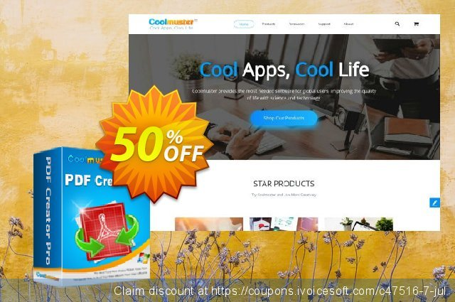 Coolmuster PDF Creator Pro discount 50% OFF, 2020 Halloween offering discount