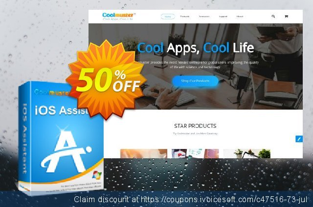 Coolmuster iOS Assistant - Lifetime License(26-30PCs) discount 50% OFF, 2019 National Women month offer